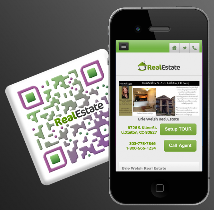 Real Estate app and QR