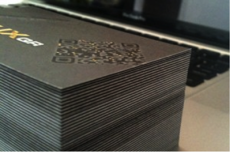 QR Business Card Stack