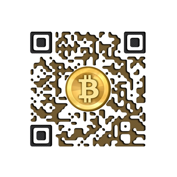 Brown Bitcoin QR