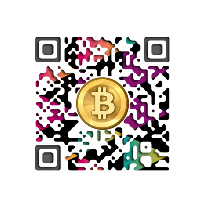 Colored Background BTC Wallet